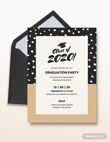 graduation party invitation layout