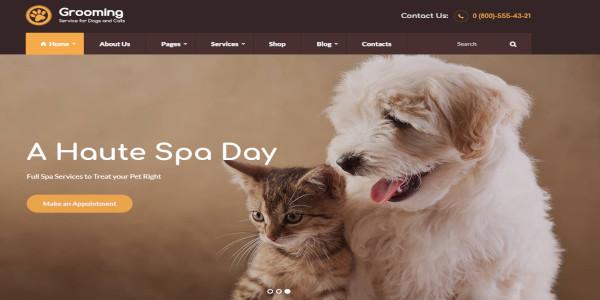 grooming dog grooming wordpress theme