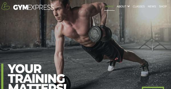 gym express fitness theme in wordpress