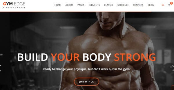 gymedge new age and responsive wordpress theme