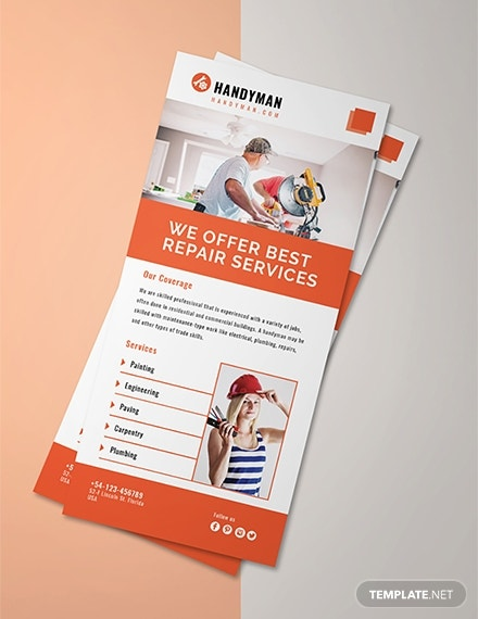 handyman services rack card layout