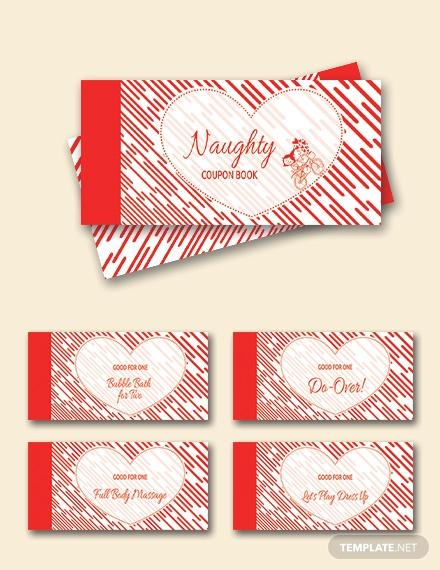 heart coupon book template
