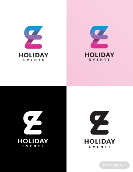 holiday events logo example
