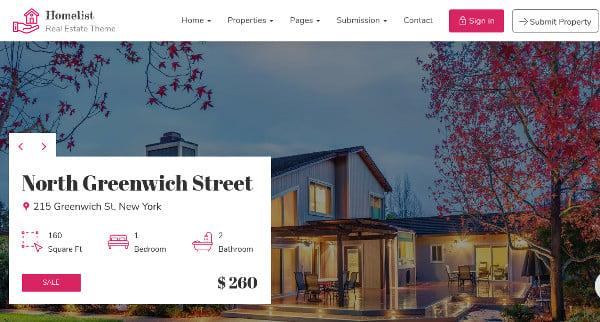 homelist powerful admin interface wordpress theme
