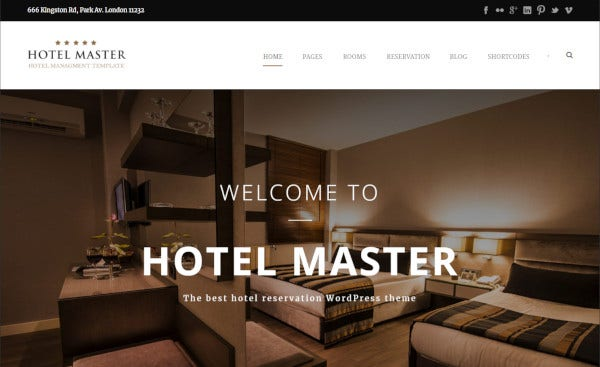 hotel master – wordpress theme