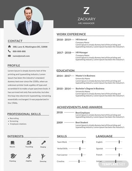 hr resume 1x