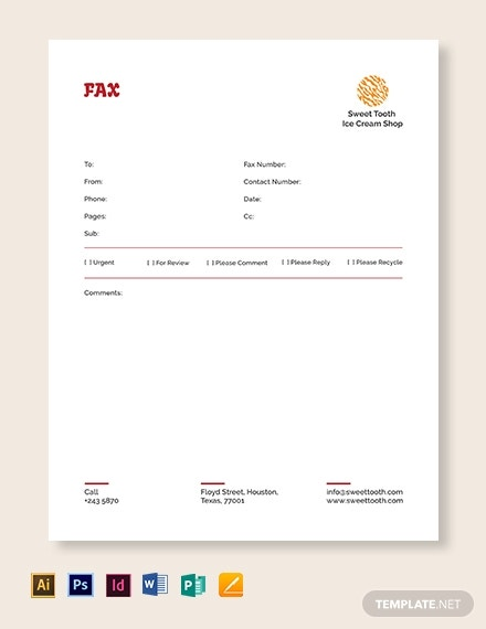 ice cream fax paper template1