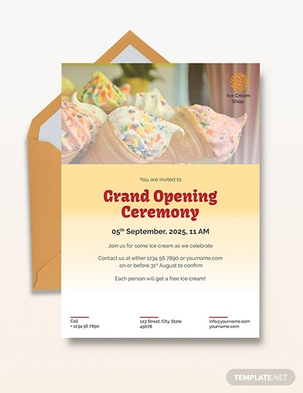 ice cream party invitation example