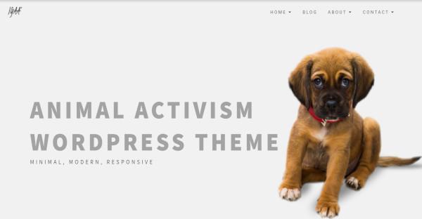 igaa animal activism wordpress theme