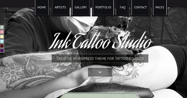 ink tattoo studio professional wordpress theme