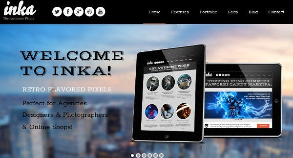 inka responsive retina wordpress theme