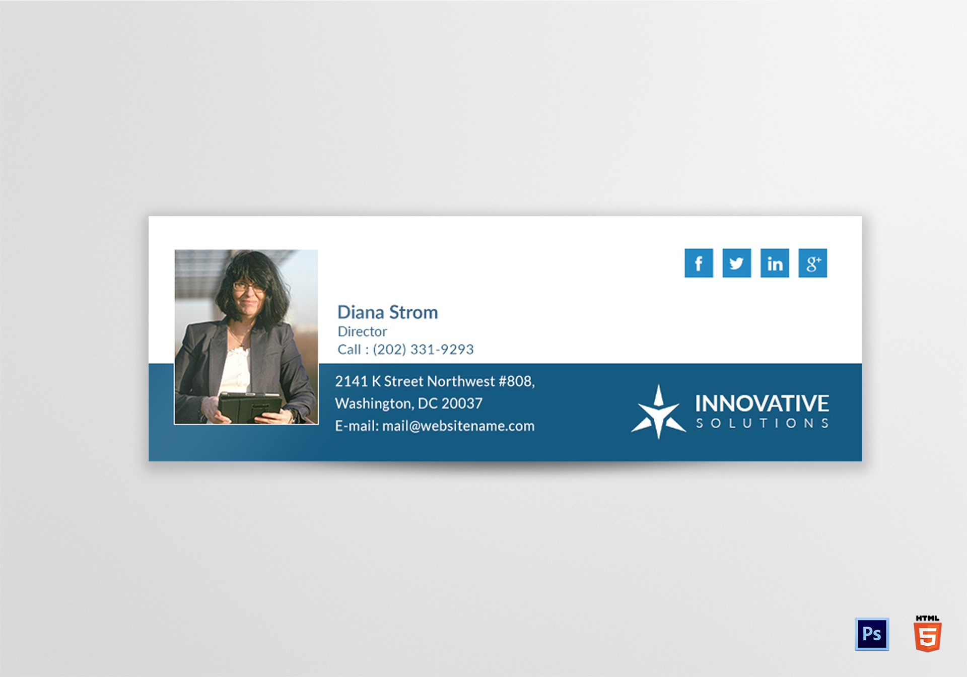 innovative solutions email signature sample