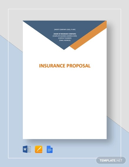 insurance proposal template