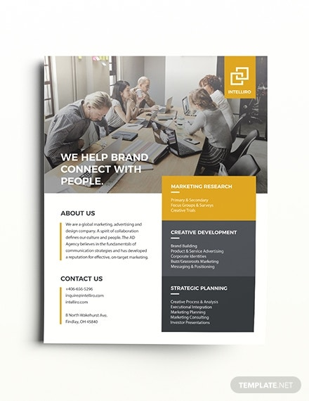 intelligent business corporate flyer sample