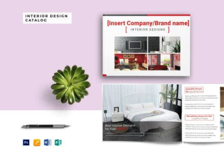 interior design product catalog template