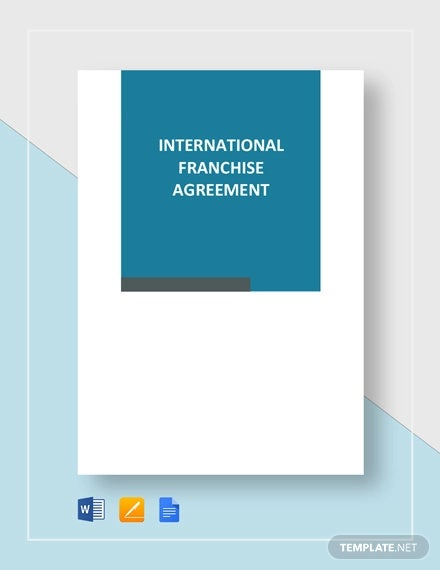international franchise agreement template