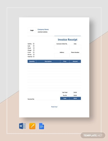 invoice receipt template