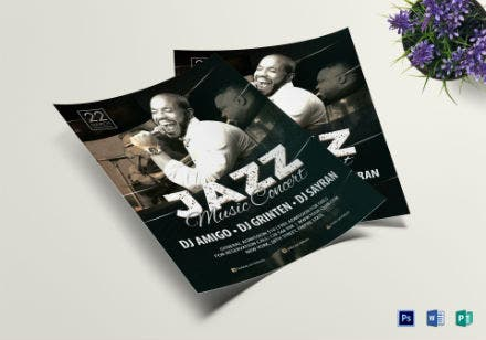 jazz music concert flyer