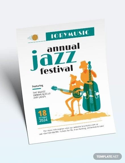 jazz music event flyer template