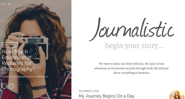 journalistic mobile friendly wordpress theme