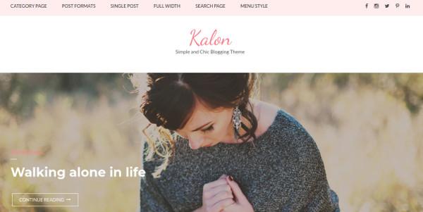 kalon – highly responsive wordpress theme