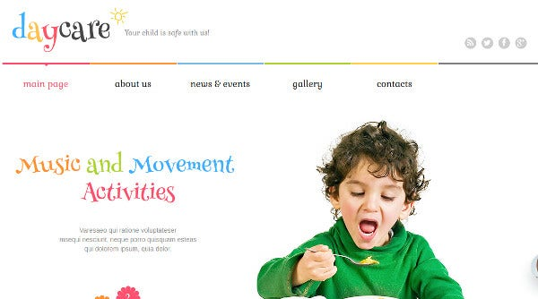 kids center multipurpose wordpress theme