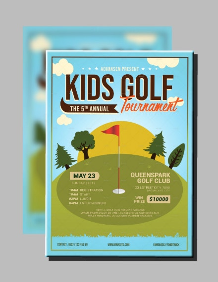 Kids Golf Tournament Flyer Design