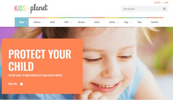 kids planet wordpress theme