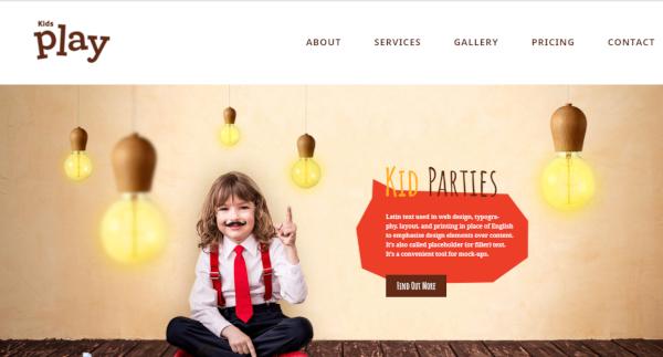 kids play seo optimized wordpress theme