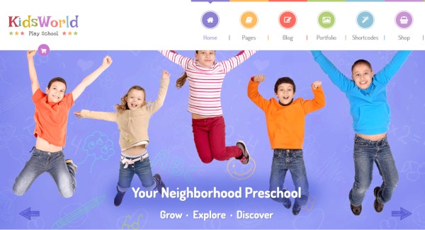 kids world fully flexible wordpress theme