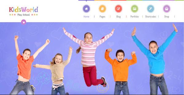 kidsworld play school wordpress theme