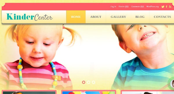 kinder center seo optimized wordpress theme