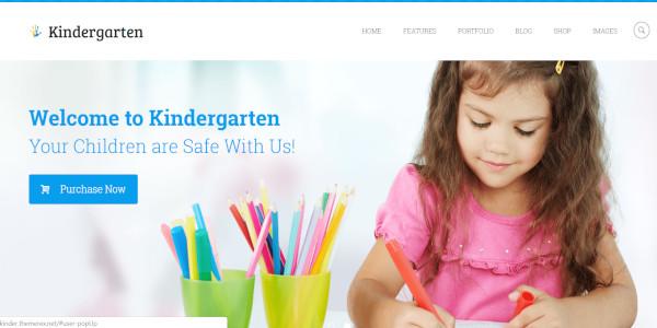kindergarten daycare wordpress theme