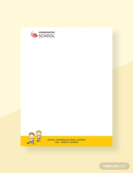 kindergarten-letterhead-template