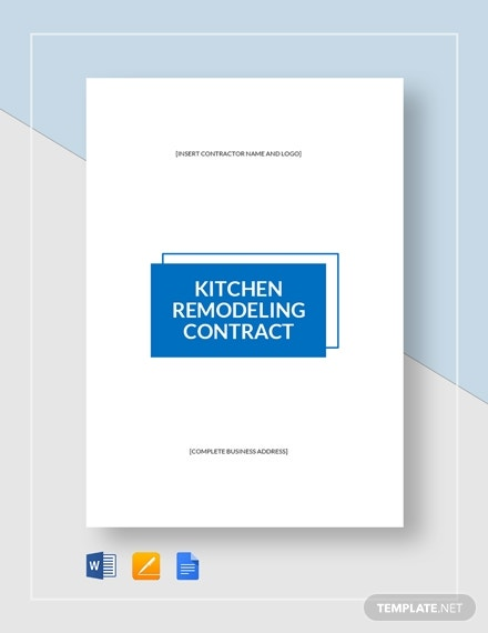 kitchen remodeling contract 5