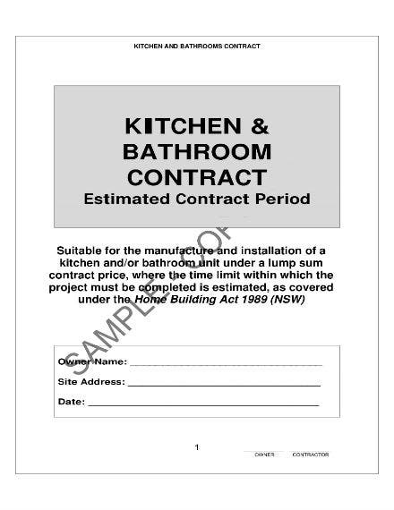 kitchen and bathroom contract 1