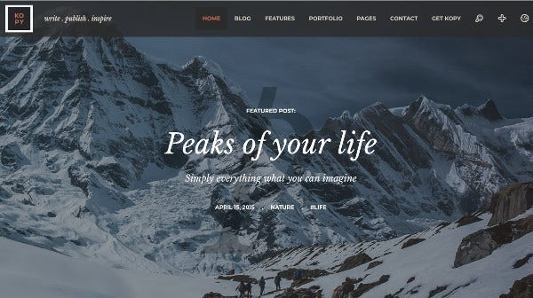 kopy drag and drop page builder wordpress theme