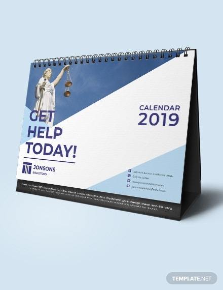 law firm desk calendar
