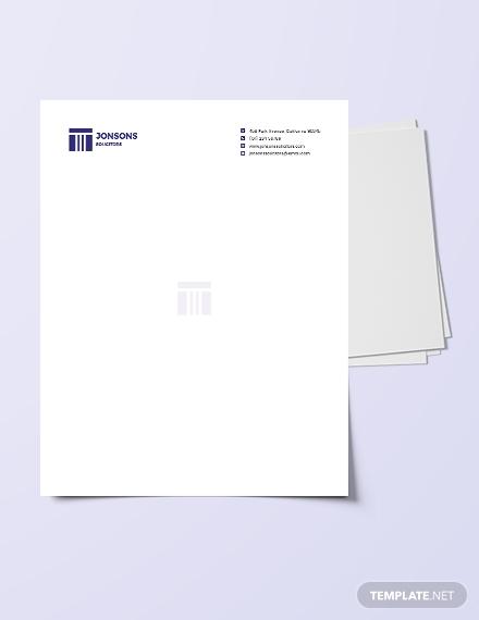 law firm letterhead template