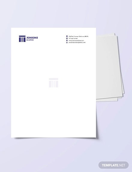 law firm letterhead template3