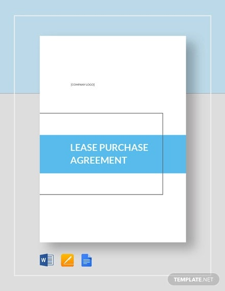 9 Lease Purchase Agreement Word Pdf Google Docs Apple