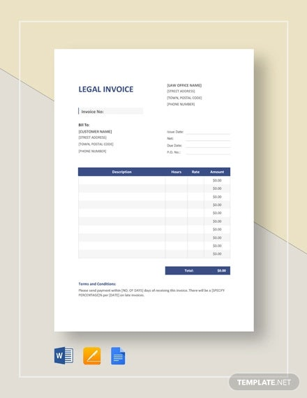 12+ Legal Invoice Templates - Docs, PDF | Free & Premium ...