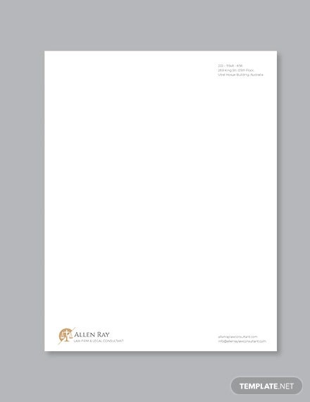 legal services letterhead template
