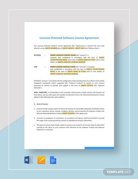 35 License Agreement Templates Free Word Pdf Format