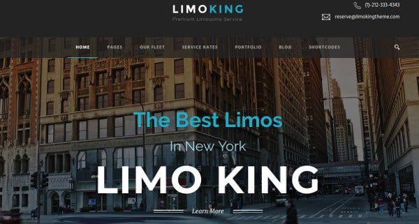 limo king retina ready wordpress theme