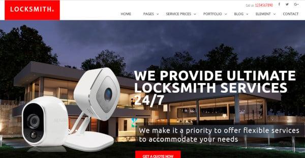 locksmith – home and auto security wordpress theme