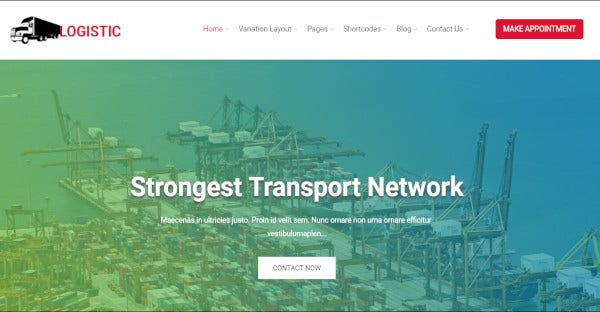 logistic a responsive wordpress theme for transportation