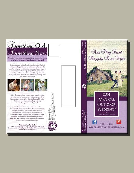 magical outdoor wedding trifold brochure