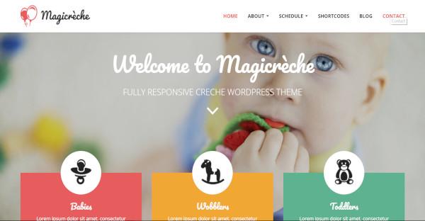 magicreche creche and kindergarten wordpress theme