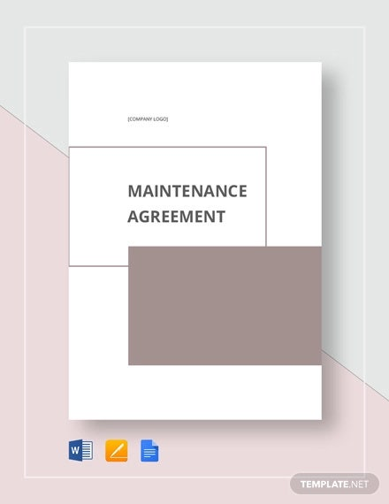 Maintenance Agreement Templates - 12+ Free Word, PDF Format